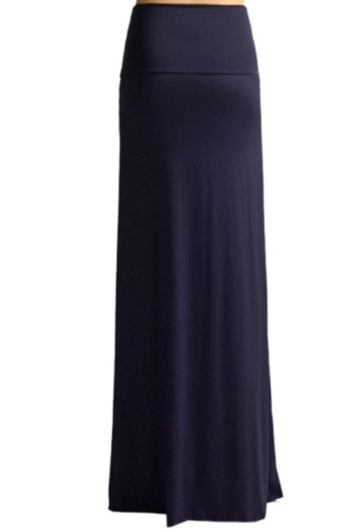 Navy Maxi Skirt Style 9001 - The Skirt Boutique
