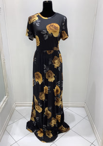 PLUS Floral Maxi Dress Style T7828