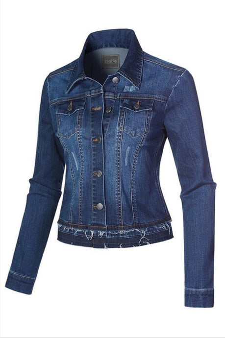 Vintage Long Sleeve Denim Jacket 4254