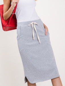 Draw string Pencil Skirt Style 9433 in Heather Grey or Black