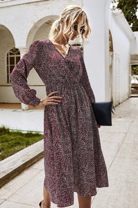 Long Sleeved Dress Style 4152 in Wine