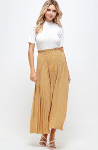 Joyous Maxi Pleated Skirt Style SK019 in Mustard