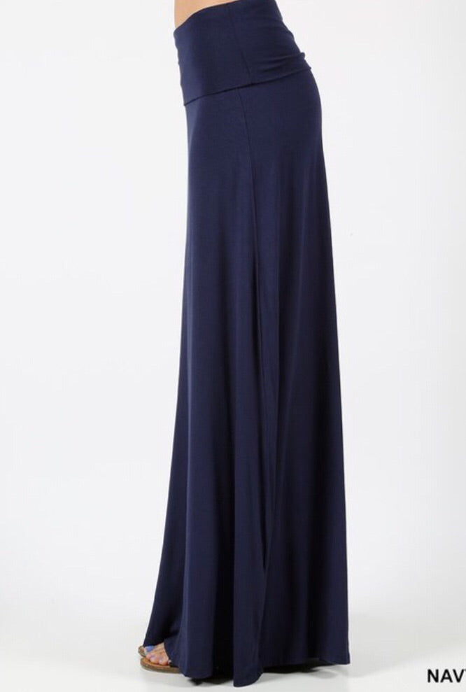 Premium Maxi Skirt Style 1343 in Navy - The Skirt Boutique