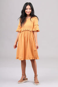 Reese Dress in Marigold - The Skirt Boutique