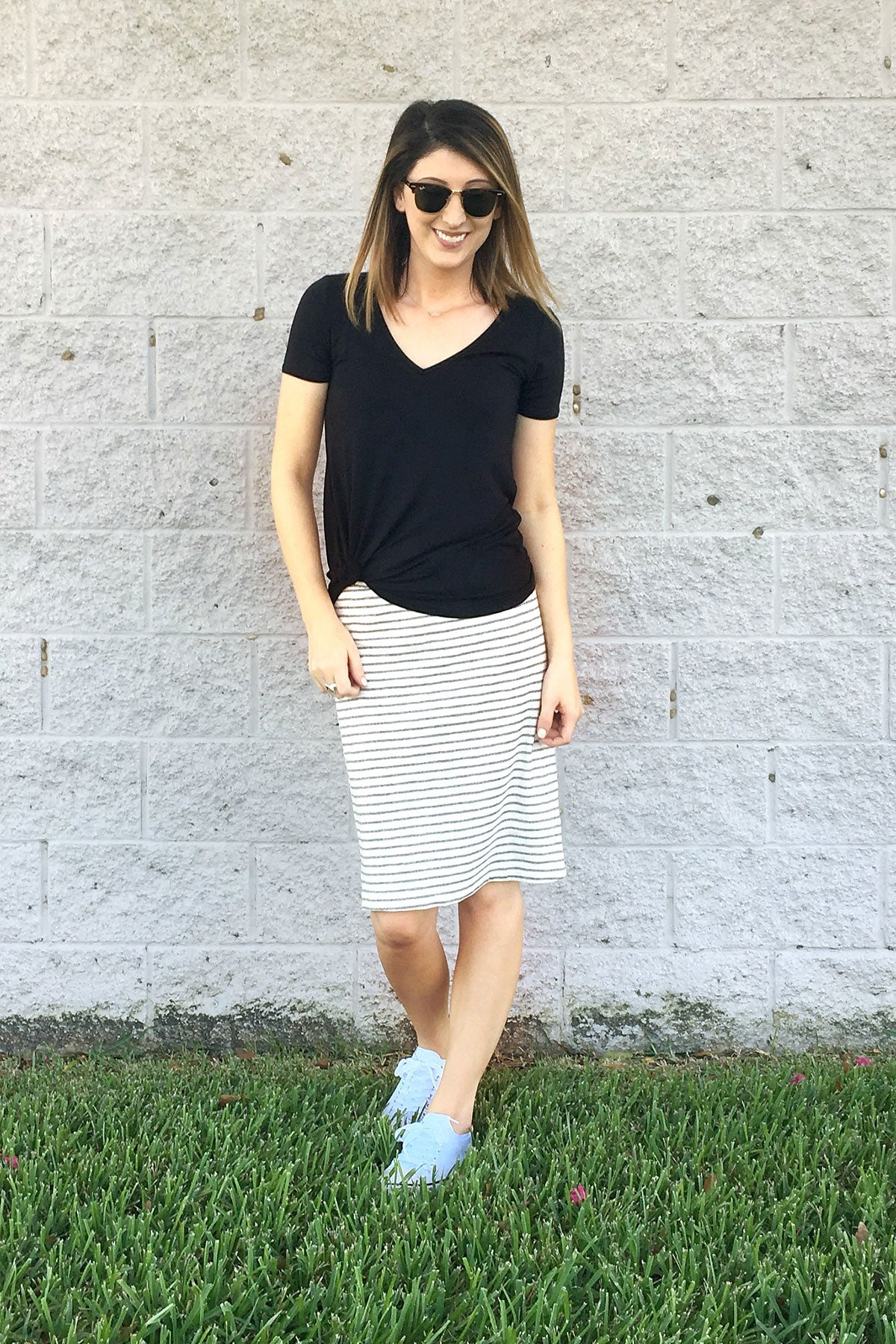 chic look plain tee