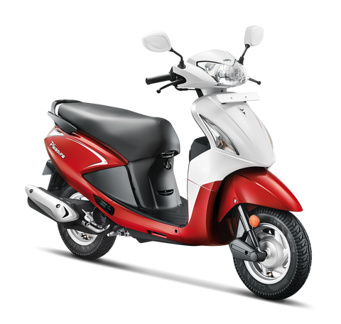 Moto Hero Pleasure 2 Rojo y Blanco