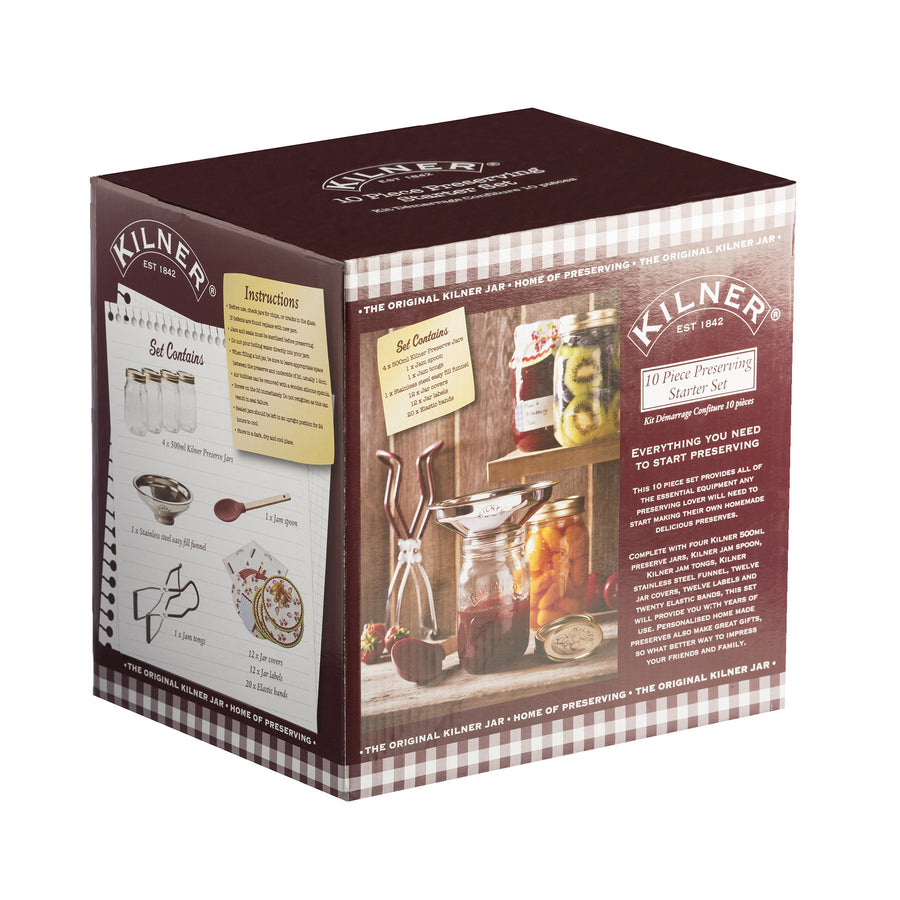 Kilner - 10 Piece Preserving Starter Kit