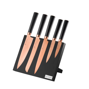 Titan Copper 6 Pce Knife Block Giftbox - Viners - 0305.141