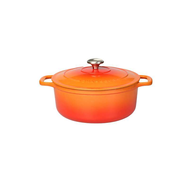 Chasseur Round Casserole 18cm/1.8L - Flame