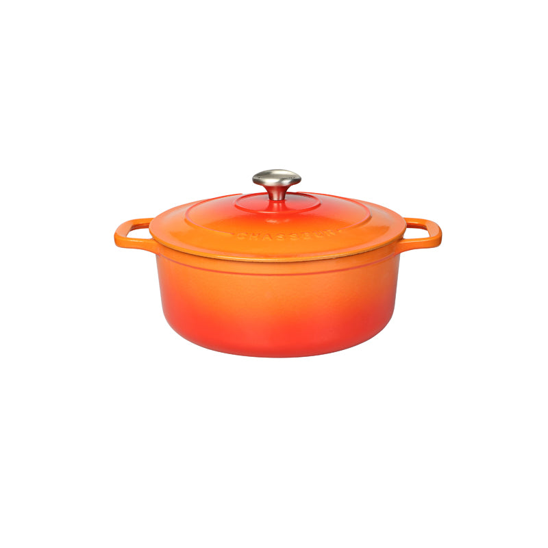 Chasseur Round Casserole 26cm/5.2L - Flame