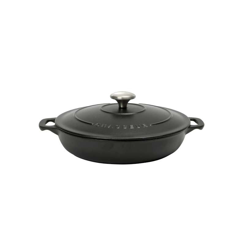 Chasseur Round Serving Casserole 24cm/1.5L - Matt Black