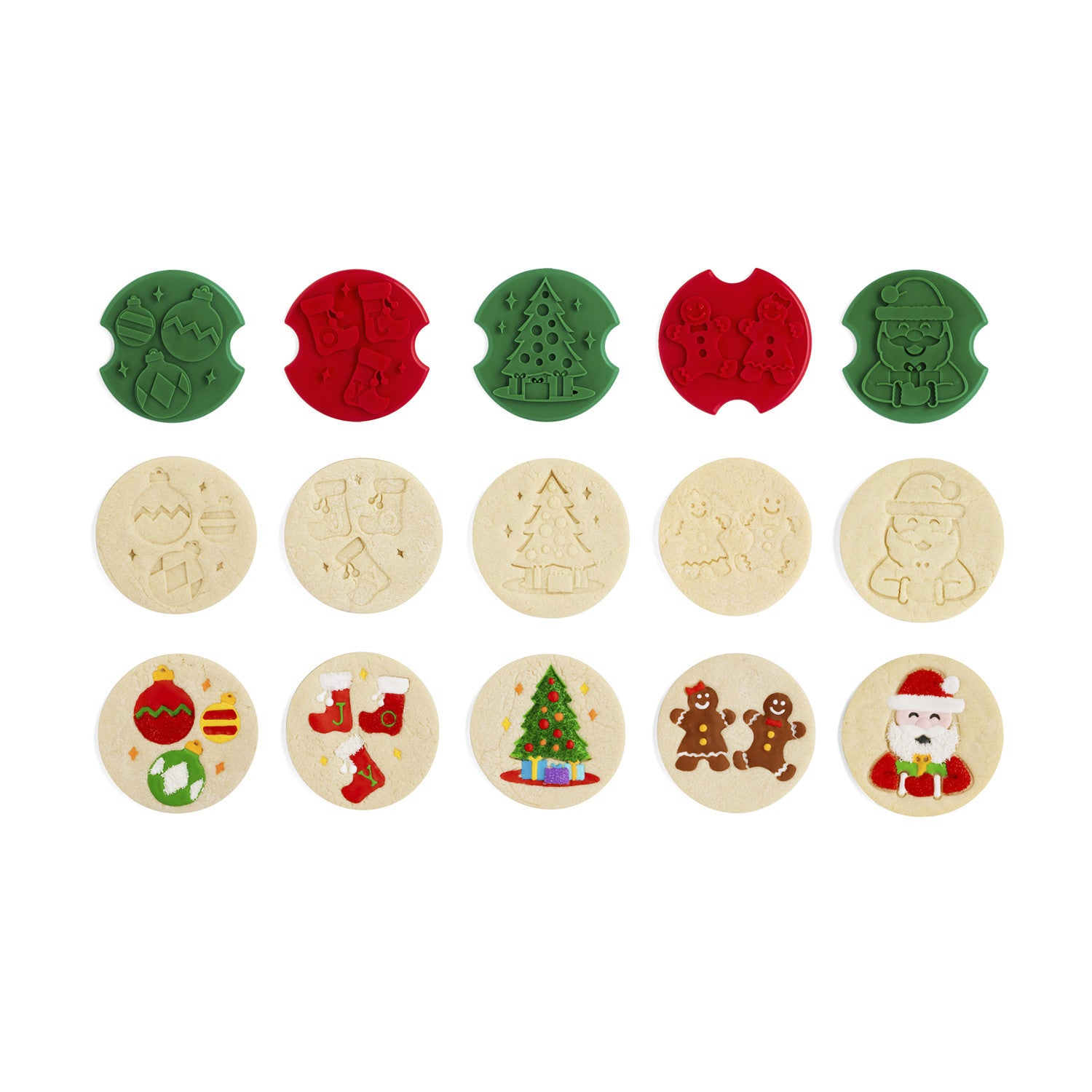 Christmas Cookie Stamper Cutters - Poppy's Cookshop