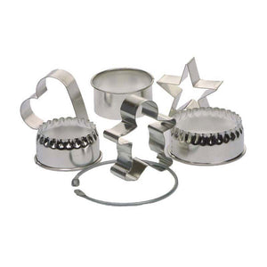 Assorted Cookie Cutters Set of 6 on a ring - 17840882