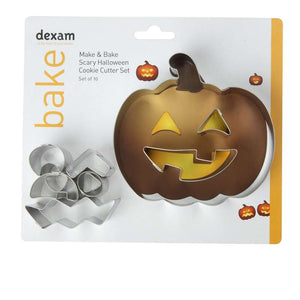 Make & Bake Halloween Cookie Cutter Kit, Set of 10 - 17848709