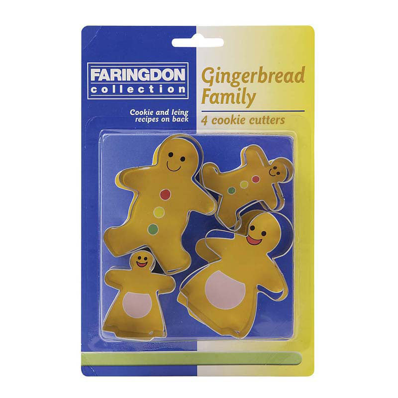 Gingerbread Family Cookie Cutters - Set of 4 - 17848894