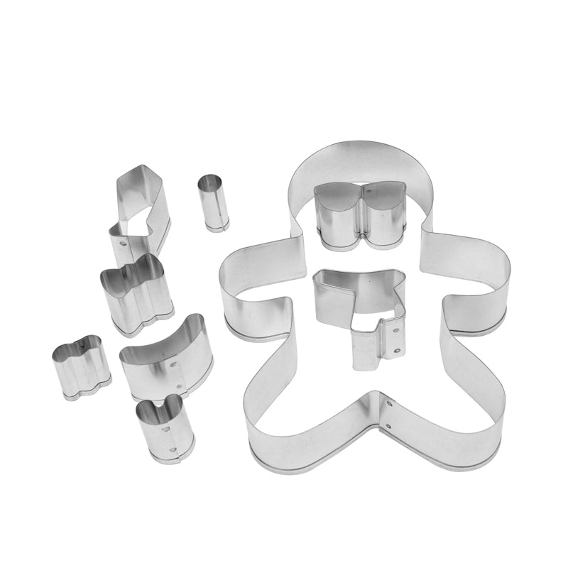 Make & Bake Gingerbread Men Cookie Cutter Kit - 9 Piece 17848966
