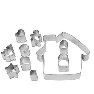 Make & Bake Gingerbread House Cookie Cutter Kit - 10 Piece 17848967