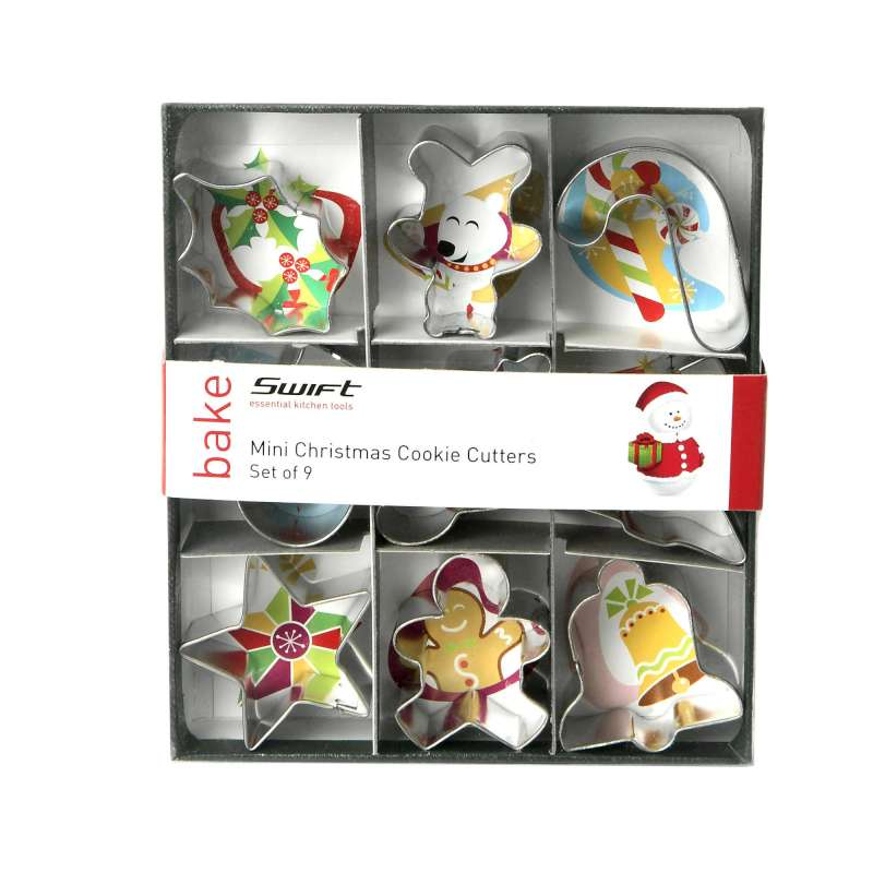 Mini Christmas Cutters Set of 9 - 4cm - 17848974
