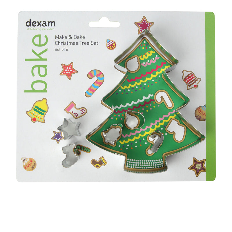 Make & Bake Christmas Tree Cookie Cutter Kit, Set of 6 - 17851037