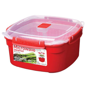 Sistema Microwave 2.4 L Medium Steamer with Removable Basket - Red - 0689017263174