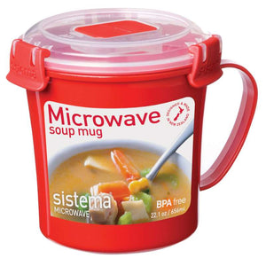 Sistema To Go Microwave Soup Mug - 656 Ml - Red