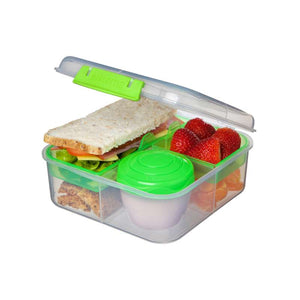 Sistema Bento Cube Box to Go with Fruit / Yogurt Pot, 1.25 L