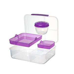 Sistema Bento Lunch Box to Go with Fruit/Yogurt Pot, 1.65 L  - Green