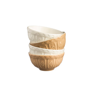 Cane and Cream Food Preparation Bowls - Set of 4 - Mason Cash - 2001.126