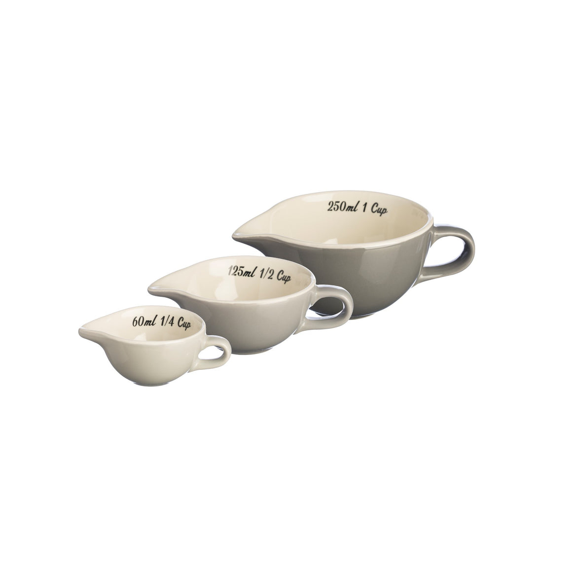 Mason Cash Bake My Day Set of 3 Measuring Cups (Grey)