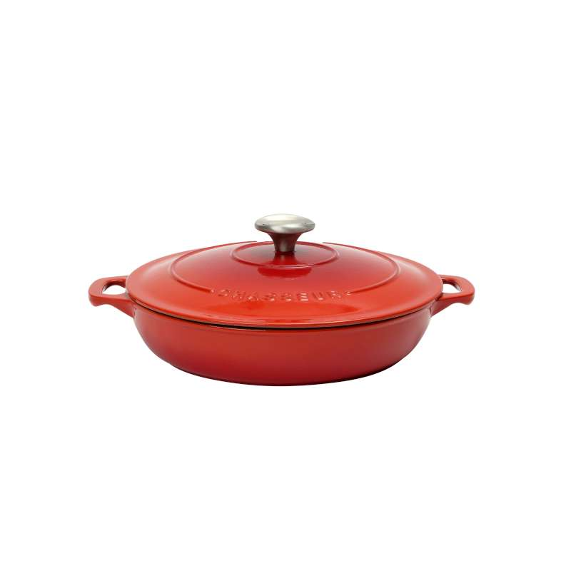 Chasseur Round Serving Casserole 24cm/1.5L - Chilli Red