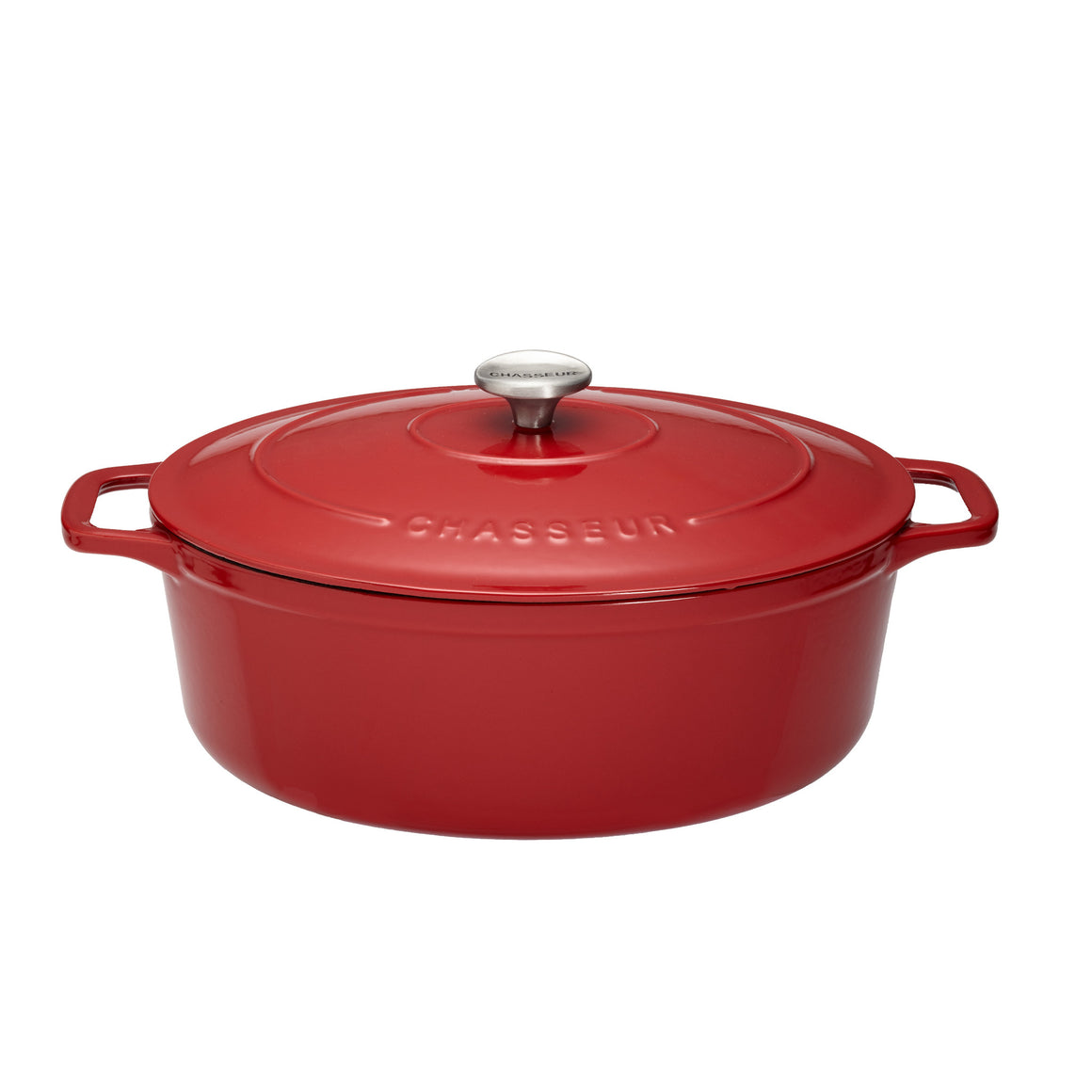 Oval Casserole Pot - Chilli Red 4.5L - Chasseur