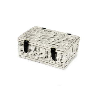 12 Inch White Wicker Hamper - Empty - 32*22*13