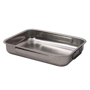 Supreme Stainless Steel Roaster and Rack - 30 x 22 x 5cm, with two side handles - 12109422 & 12109522