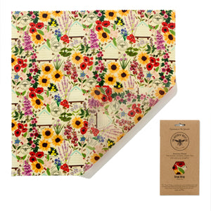 Beeswax Bread Wrap Floral