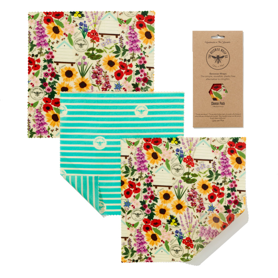 Cheese Pack Beeswax Wrap Floral
