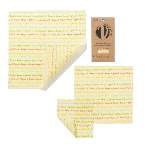 Medium Kitchen Pack Vegan Wax Wrap