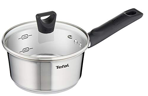 Tefal Simpleo Titanium Coated 3 Piece Pan Set, Stainless steel - B905S344