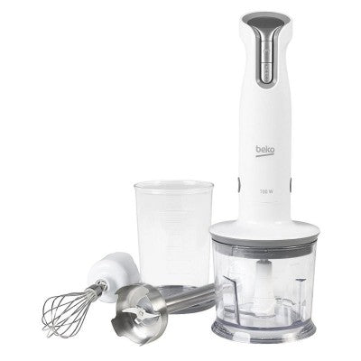 Beko HBA6700W Hand Blender with 2 Accessories - White