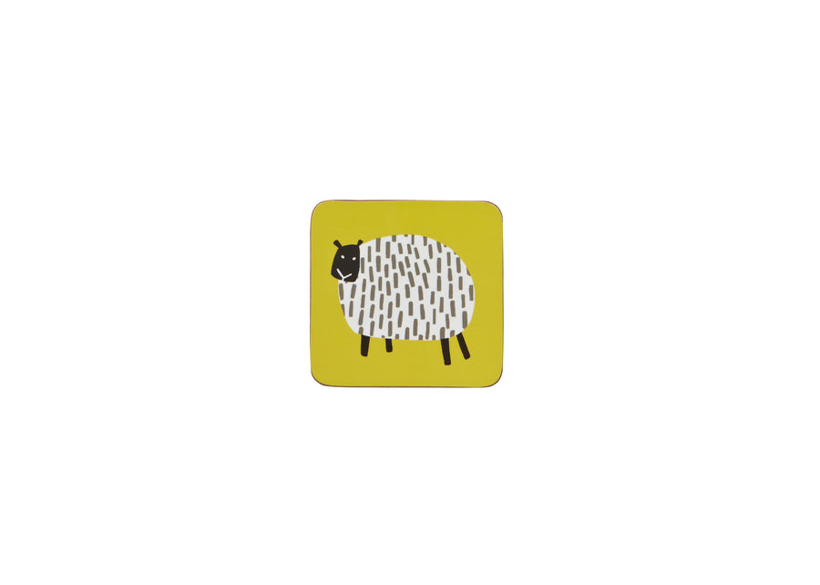 DOTTY SHEEP COASTER 4 PACK
