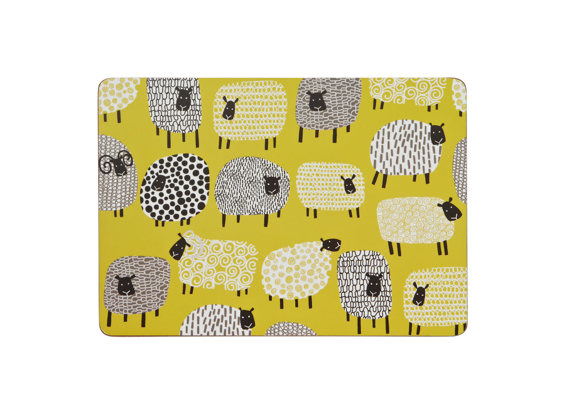 DOTTY SHEEP PLACEMATS 4 PACK