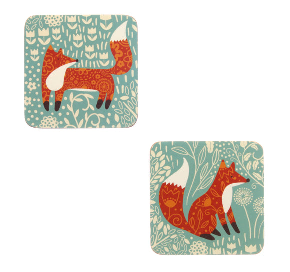 FORAGING FOX COASTER Pack of 4