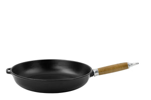 Frypan with wooden handle - chasseur - matt black