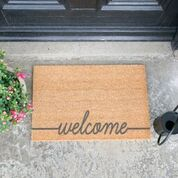Grey Welcome Scribble Doormat GREY-WELSCRIBBLE