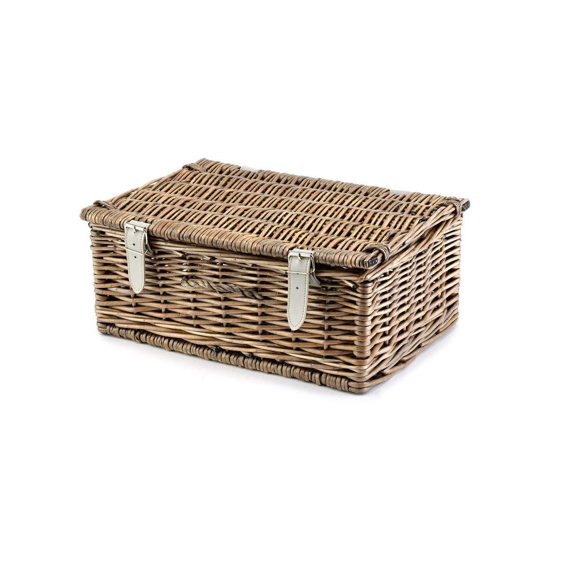 14 Inch Antique Finish Wicker Hamper - Empty - 36*25*15