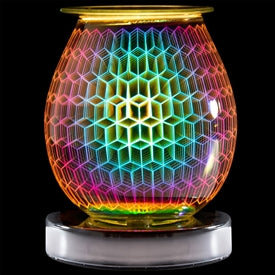 Geometric Design Aroma Lamp Melt Burner (Electric) - LP44349