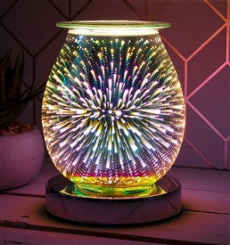 Round Firework Aroma Lamp Melt Burner (Electric) - LP44353