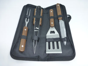 Viners Wooden Handle BBQ Set - 4 Piece - 0303.077