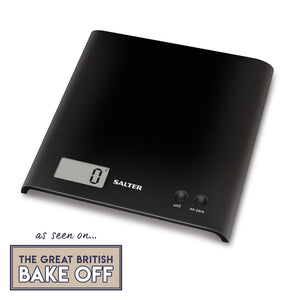 Salter Arc Electronic Digital Kitchen Scales - Black