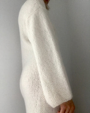 BOZIDARA Alpaca Sweater Dress in Ivory