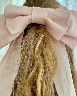 Silk Pink Bow Ribbon